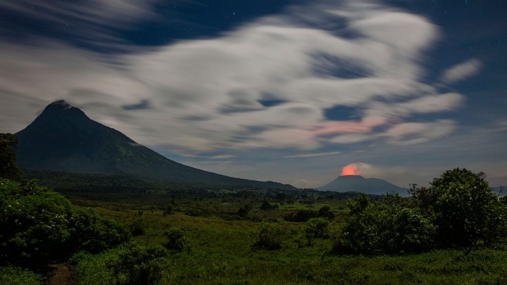 mountains in Virunga National Park